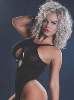 Blonde curly hot girl with blue eyes pg7